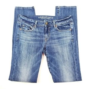 A.E.O. Skinny Stretch Denim Jeans 10 Extra Long